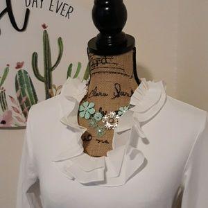 NWT J. McLaughlin white blouse